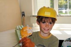 Petit ouvrier Photos stock