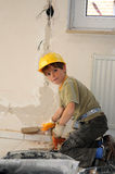 Petit ouvrier Image stock