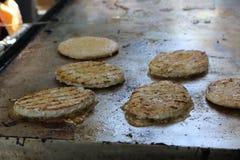 Petit pâté d'hamburger Images libres de droits