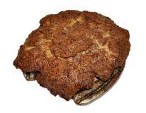 Boeuf Patty cuit souillée avec de la viande de cheval Images stock