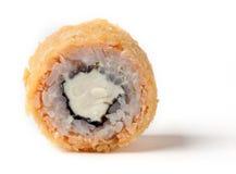 Petit pain avec les saumons effrayants chauds sensibles Images libres de droits