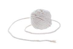 Petit pain blanc de corde sur le fond blanc Photographie stock libre de droits