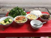 Petit pain Cha - plat vietnamien, Hanoï photographie stock libre de droits