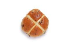 Petit pain croisé chaud simple Images libres de droits