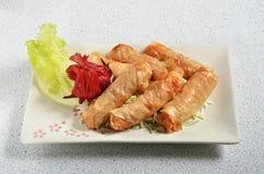 Petit pain cuit à la friteuse de fruits de mer Image libre de droits