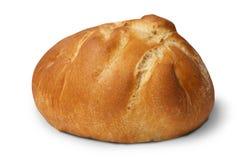 Petit pain cuit au four délicieux d'isolement sur le fond blanc photographie stock