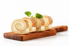 Petit pain d'éponge de fromage fondu Photo stock