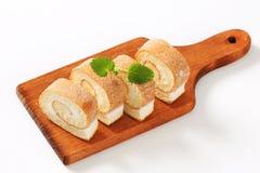 Petit pain d'éponge de fromage fondu Image libre de droits