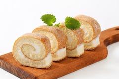 Petit pain d'éponge de fromage fondu Image stock