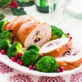 Petit pain de blanc de dinde de Noël Photographie stock