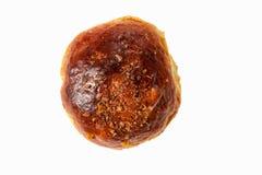 Petit pain de calorie avec des noix d'isolement photos libres de droits