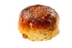 Petit pain de calorie avec des noix sur le blanc photo libre de droits