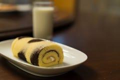 Petit pain de confiture de vanille Image stock