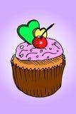 Petit pain de couleur sur le fond rose Images libres de droits