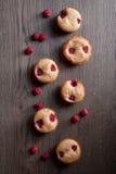 Petit pain de framboises Photos libres de droits