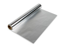 Petit pain de papier d'aluminium Images stock
