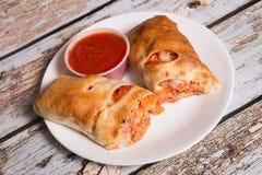 Petit pain de Parmigiana de poulet Photographie stock libre de droits
