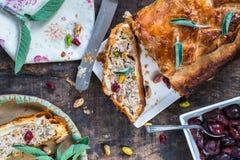 Petit pain de porc de sauge et de pistache Photographie stock