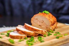 Petit pain de poulet Images libres de droits