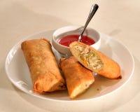 Petit pain de ressort chinois frit photo stock