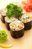 Petit pain de riz brun Image stock