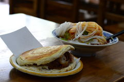 Petit pain de Rouga, nourriture chinoise Photographie stock