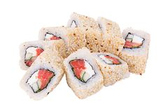Petit pain de sushi Alaska Photo libre de droits