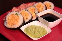 Petit pain de sushi de Cajun Image libre de droits