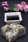 Petit pain de sushi de la Californie Photographie stock