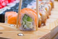 Petit pain de sushi de Philadelphie Photos libres de droits