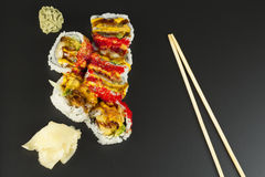 Petit pain de sushi de Tempura de crevette Photographie stock