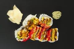 Petit pain de sushi de Tempura de crevette Image libre de droits