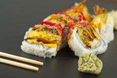 Petit pain de sushi de Tempura de crevette Photos libres de droits