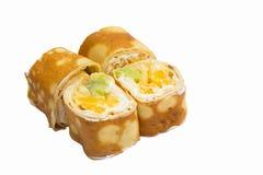 Petit pain de sushi doux d'isolement sur le fond blanc Photographie stock libre de droits