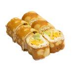 Petit pain de sushi doux d'isolement sur le fond blanc Photo stock
