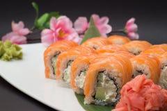 Petit pain de sushi Philadelphie Photographie stock