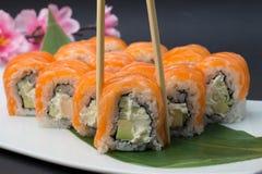 Petit pain de sushi Philadelphie Images libres de droits