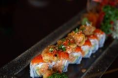 Petit pain de sushi servi Photographie stock