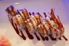 Petit pain de tempura de crevette Photos stock