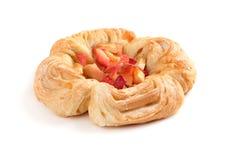 Petit pain doux avec la pomme Photographie stock libre de droits