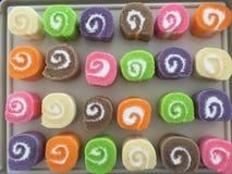 Petit pain doux de couleur de variété Images stock