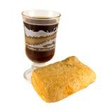 Petit pain et café Image stock