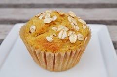 Petit pain fait maison de farine d'avoine de potiron Image libre de droits