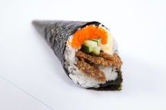 Petit pain Fried Soft Crab Temaki de main Photo stock