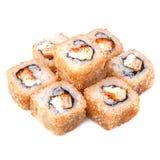 Petit pain japonais cuit à la friteuse de tempura avec l'omelette japonaise, orange Photo stock