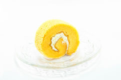 Petit pain orange de gâteau Photo stock
