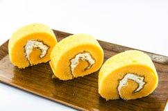Petit pain orange de gâteau Photographie stock libre de droits