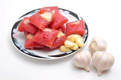 Petit pain ou pas mentionné ailleurs Lai Vung de porc fermenté par Vietnamien images stock