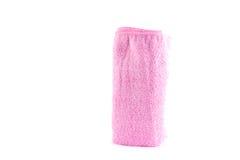 Petit pain rose de serviette se tenant verticalement Image stock