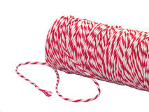 Petit pain rouge et blanc de corde de velours côtelé Image libre de droits